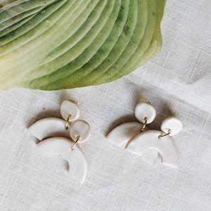 Handmade Pearl Arch Earrings